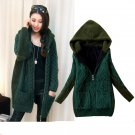 Hooded Abrigos Mujer Winter Coat Cashmere Cardigans Loose Sweater Cardigan Plus Thick Velvet Overcoa