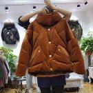 Velvet Coat Winter Korean Casual Loose Short Womens Down Jackets Thick Warm Velvet jacket Women Velo