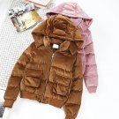 Female Student Jacket Winter Clothes New Women Thick Warm Velvet Removable Hooded Bread Coats Coat L
