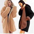 Mengpipi 2017 Winter  Jacket Women Thick Plus Loose Double Velvet Hooded Coat Abrigo Mujer Casaco Fe