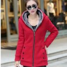 Basic jackets coat fall and winter clothes thick velvet hooded Coats Woman Plus Size Ladies Slim Jac