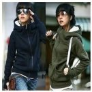 woman Jacket Coat Autumn And Winter  Clothing Velvet Thickening Pullover with A Long-sleeve Sweatshi