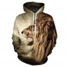 New Fall/Winter Casual Animal Hoodies Men/Women 3D Lion Sweatshirt Print Lion Head Hip Hop Pullover