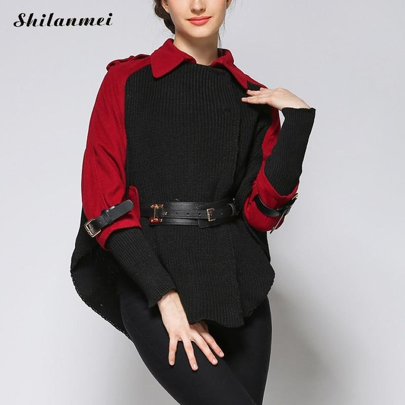 Gothic winter coat women cloak poncho coats black warm thick jacket fashion overcoat autumn outwear