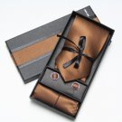 2017 Neck Tie Set Gift Box Wedding Solid colour Ties for men Pocket Square Cufflinks
