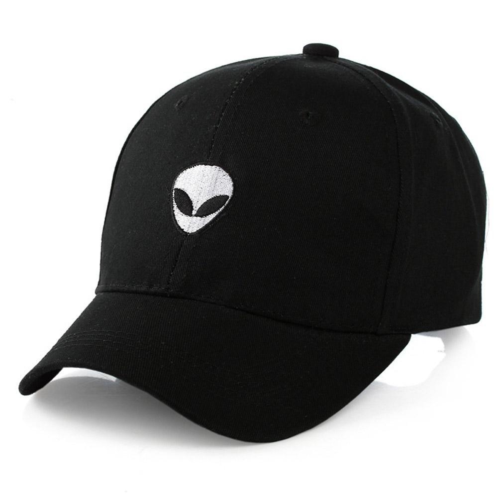 2017 Baseball Cap Black Embroidered Alien Pattern Cap Fashion Cool Adjustable Snapback Hip-Hop Baseb