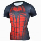 New Arrival Men Fitness 3D T-Shirt Spiderman Print Bodybuilding Crossfit T-Shirts Quick Dry Compress