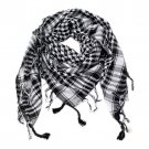 Arab Kiffiyeh Men Winter Miltary Tactical Windproof Scarf Black and White 100% Cotton Muslim Hijab S
