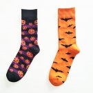 simple style hallowmas bat pumpkin Socks General Warm Stitching pattern Antiskid Invisible Casual So