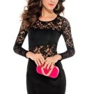 Bodycon Lace Patchwork Women\'s Party Dress