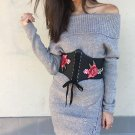 Slash Neck Lace up Women\'s Sweater Dress