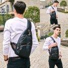 Extra Large Size Fashion Mens Shoulder Bag Burglarproof Snapper Black Leather Mens Messenger Bag Tra