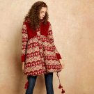 Winter Strap Embroidery Folk-Custom 100% Cotton Long Coat Jacket with Hat
