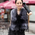 Lady Faux Fox Fur Vest Winter Warm Short Coat 2015 New Outwear Jacket Waistcoat Tops Colete De Pele