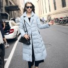 Winter Long Design Coat Female Slim Over-the-knee Ultra Long Lengthen Thickening with a Hood