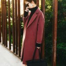 New Wool Coat  Winter Warm Trench coats abrigos mujer Long Thick Women Wool Coats Black Red Overcoat