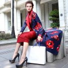 New Fashion Winter Designer Coat Women\'s Long Sleeve Floral Print Extra Long Trench Overcoat Outerw