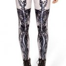 Mechanical Mermaid White Leggings 2016 fashion new women Digital Print Galaxy Pants