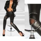 Fashion Sexy New Cool Women Classical Slim  Skinny Fit Sexy Zip Faux Black Leather Leggings Pants Ne