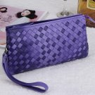 Black sheepskin women wallet fashion genuine leather ladies long clutch bags brand styles purse card