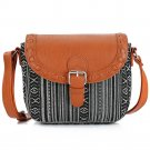 2017 Vintage Black Stripe Boho Aztec Tribal Female Clutch Women Crossbody Bag Ladies Shoulder Bag wi