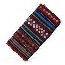 Sansarya 2017 Tribal Jacquard Woven Star Long Women Wallet Boho Ladies Card Holder Aztec Female Purs