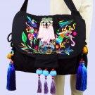 2-Usage Hmong Vintage Ethnic Tribal Thai Indian Boho shoulder bag messenger tote bag handmade, embro