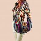 Vintage hmong Boho Tribal Ethnic Thai Indian Boho hand bag messenger  purse bag hobo tote bag pom be