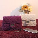 New Fashion Velvet fabric messenger chain bags,brand desinger rhombic bag women mini Tote Clutch bag