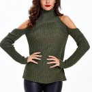 Off Shoulder Knitted Long Sleeve Pullovers Sexy Fashion Slim Casual Sweater Clothes Autumn Winter Wo