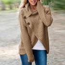 New Long Sleeve Turtle Neck Pullover Blouse Buttons Asymmetric Split Blusas Female Autumn Winter Fas