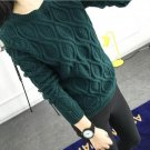 12 Color ! Hot New Autumn Winter Women Cotton Elastic Twist Sweater Lady Knitted Long Sleeve O-neck