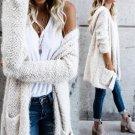 2XL XL 7 Colors Long Cardigan Sweater with Hat Autumn 2017  Women Outwear Long Sleeve Pockets Winter