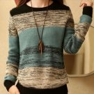 New Fashion autumn and winter women\'s O neck hit color sweater women coat pullovers loose knit shir