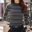 New winter women\'s striped knit shirt Slim Fit Turtleneck long sleeve sweaters Women\'s tops Fashio