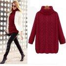 Women Sweater Winter Knitted Long Warm Sweater With Neck Women Sweater Casual Turtleneck For Women P