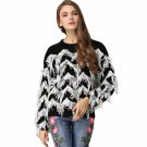 Patchwork Wave Tassel Knitted Sweater Women Soft Jumper Pull Femme 2017 Autumn Winter Plus Size Luxu