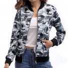 2017 Women Fashion Camouflage Print Long Sleeve Zipper Bomber Outerwear Autumn Casual Slim Fit Basic
