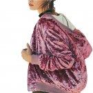 Pink Sweet Female Velvet Coat Spring Casual Slim Ribbed Basic Jacket Zipper Elegant Brief Chic Bombe