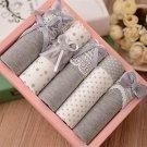 5 Pcs Women\'s Briefs Panties Gift Box Combination Cotton Underwear Bowknot Lady\'s Lovely Underwear