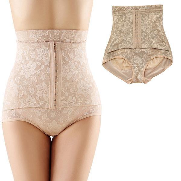 Women Jacquard Seamless Body Shaping Pants Corset High Waist Underwear Shapewear