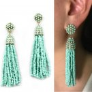 2017 New Fashion Seed Beads Boho tassel simple Long Drop Earrings for Women