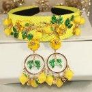 Luxury vintage hair accessories jewelry 2016 New yellow Gold Leaf Pearl Headband Bridal Headwear Hai