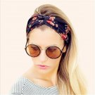 1Pcs Elasticity Turban Twisted Knotted Bow Headbands Elastic Hair Bands Printing Stretch Hairband Gi