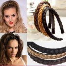 1pc  Hair Accessories Womens Braided Synthetic Hair Plaited Plait Elastic Headband Wide Hairband for