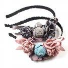 Korea Flowers Hand  ade Fabric flowers Retro Hair Accessories Diamond Hair Band Hair Bows Flower Cro