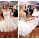 New white short wedding dresses the brides sexy lace wedding dress bridal gown plus size vestido de