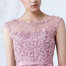 Tulle Lace Appliques Short Cocktail Dresses Zipper Back A-line Formal Wedding Party Dress Pearls Bea