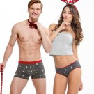 New Christmas Panties Couples Sexy Underwear Cotton U Pouch Cueca Boxer Shorts Mens Underwear Boxers