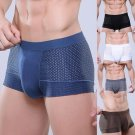 2017 ITFABS New Men Sexy Soft Net Eyes Breathable Underwear Boxer Bulge Pouch Underpants Breathable